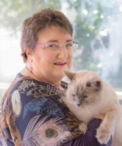 Jan with her ragdoll cat Lillabelle